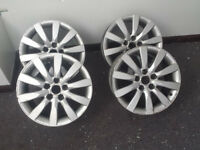 "Genuine Audi A4 B8 17"" 10 Spoke Alloys"