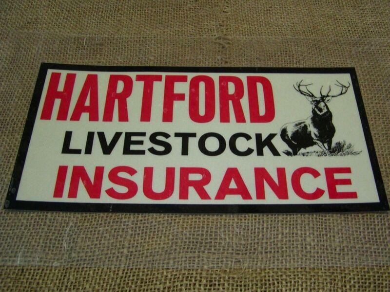 Vintage Hartford Insurance Sticker Sign Antique Old NOS