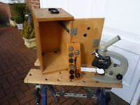 Technical & Optical Equipment Ltd Microscope Model: M5P-1E (complete with various slides)