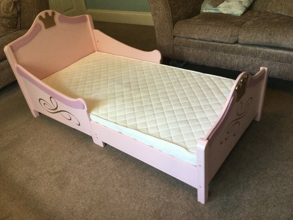 Little Princess Toddler Bed With Mattress Headboard H26 5in 67cmw29