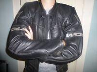 Superior quality leather Wolf bike / motorcycle jacket