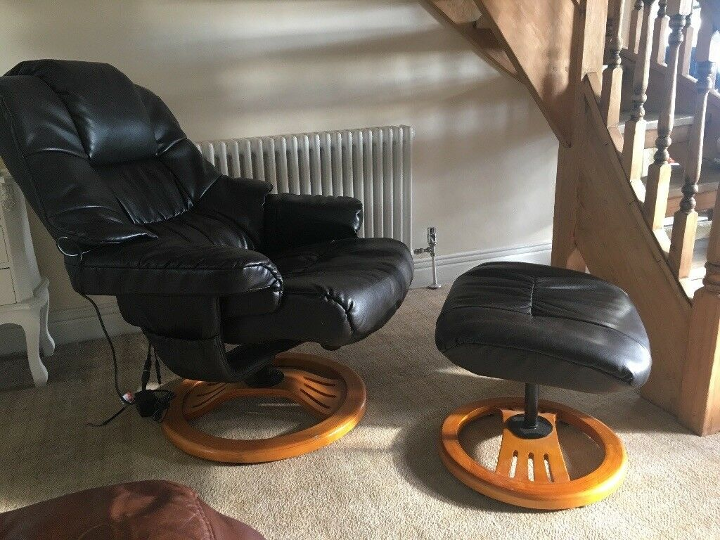 Leather Massage chair with footstool