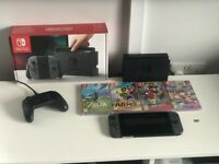 Nintendo switch + 6 games and official Switch controller