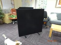 Desk privacy screens as New 1200mm x 1200mm Brown velor. 5 Nr interlocking.