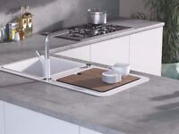 Kitchen Worktop Offcut - Egger - Boston Concrete Laminate Worktop Breakfast Bar