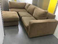 Large L shape sofa + footstool •free delivery