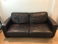 Sofa Bed for sale (Brown Leather) Good quality.