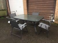 Garden table with 4 new chairs
