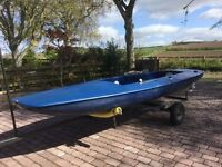 Flipper Scow Sailing Dinghy & Trailer