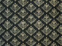 Four Large Vintage Laura Ashley Lined Curtains Ditsy Lattice Flower Black Cream Excellent Condition