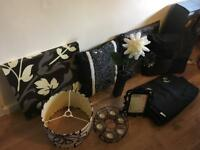 Black/cream/grey household items