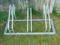 Bike Rack for holding 3 bikes for use in garage/shed or outside