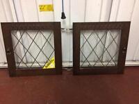 Leaded glass windows/doors for Welsh kitchen dresser