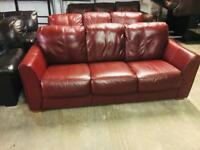 2 as new Italian leather 3 seater sofas