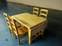 Solid oak extendable dining table + 4 oak chairs ( item 5)