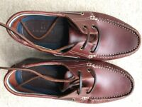 Marks and Spencer men's brown leather shoes - Size 9