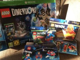 Lego dimensions starter pack, team pack & fun pack