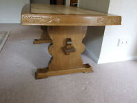 Beautiful Large Wood & Tile Coffee Table Size Approx. 140L x 76W x 60H (cm)