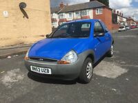 "2003 (53) FORD KA 1.3 PETROL ""11 MONTHS MOT + LOW MILEAGE ONLY 65K + DRIVES VERY GOOD"""