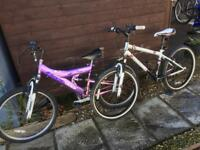 2 24 inch wheel bikes