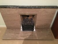 Marble fire place £60