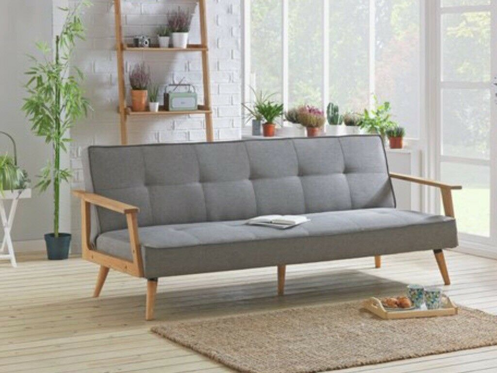 Hygena Margot 2 Seater Fabric Sofa Bed Charcoal In Somercotes Derbyshire Gumtree