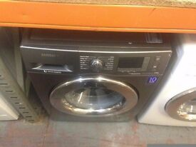 SAMSUNG 8KG ECO BUBBLE WASHING MACHINE GRAPHITE RECONDITIONED