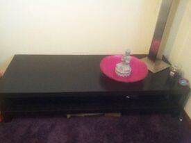 black long tv stand