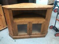 Rustic pine corner tv cabinet FREE DELIVERY PLYMOUTH AREA
