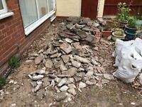 FREE BROKEN SLABS - great for crazy paving