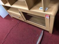 1 door 1 drawer TV unit - oak
