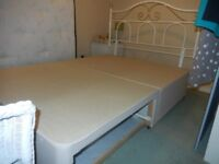 DOUBLE BED BASE (2 DRAWS) AND HEADBOARD