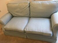 Light blue, two seater sofa
