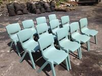 12 x plastic stacking chairs
