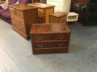 LOW VINTAGE CHEST OF TWO DRAWERS