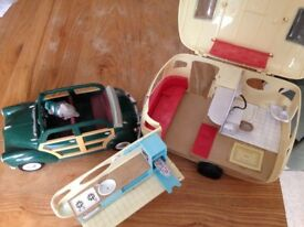 Sylvanian family car and caravan