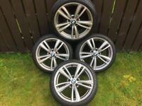 BMW 19 INCH 442 STYLE GENUINE ALLOY WHEELS WITH EXCELLENT GOODYEAR EAGLE RUNFLAT TYRES 3 SERIES F30
