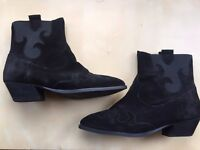 BRAND NEW Stunning Boxed Ladies Carvella Shadow Black Suede Ankle Boots (RRP £140) Kurt Geiger