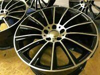 "Mercedes CLK SLK C Class E Class x4 19"" Premium Turbine Alloys BMF Et35 1142"