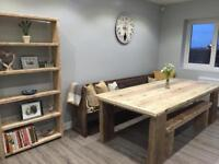 Dining tables made from heavy duty reclaimed wood any size