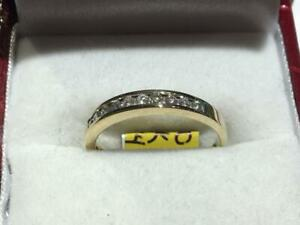 #170 14K YELLOW GOLD CHANNEL SET DIAMOND WEDDING BAND .27CT TOTAL *SIZE 6 3/4* APPRAISED AT $1550.00 SELL FOR $495.00!