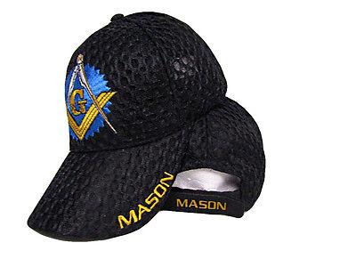 Black Mesh Mason Masonic Freemasonry Freemason Masonry Lodge Summer Cap Hat