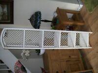 Wicker tall five shelved bathroom / bedroom storage unit