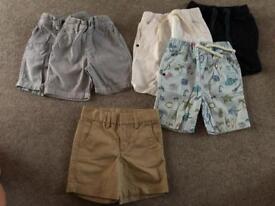 Boys shorts bundle 1.5-2 years