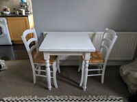 ***solid wood**** quality table and 2 chair dining set - white