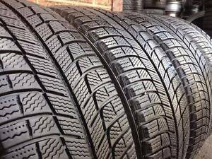 WINTER Set of 4 ~~~ 215/55R17 Michelin X-Ice ~~~ 90%+ tread
