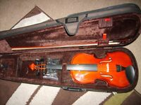 Stentor Violin 4/4 Full Size Student. As New in lovely case.