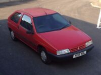 1996 (N REG) CITROEN ZX REFLEX i - 3 Dr Hatchback - Petrol - Manual - RED * FULL MOT / DRIVES FINE *