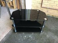 Black chrome tv stand