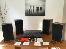 Bang & Olufsen Beocentre 3500 and four Speakers (Beovox 3702 & Beovox S45-2).